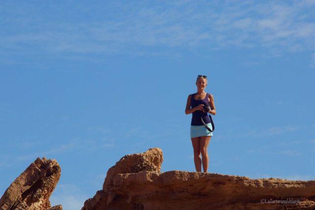 Io sopra la roccia del Pot