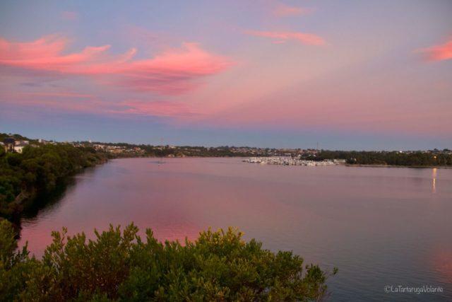vivere a perth, Tramonto sullo Swan River