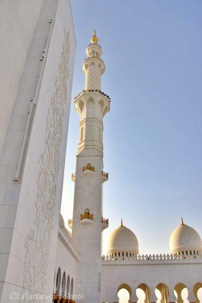 Esterno della Moschea di Abu Dhabi