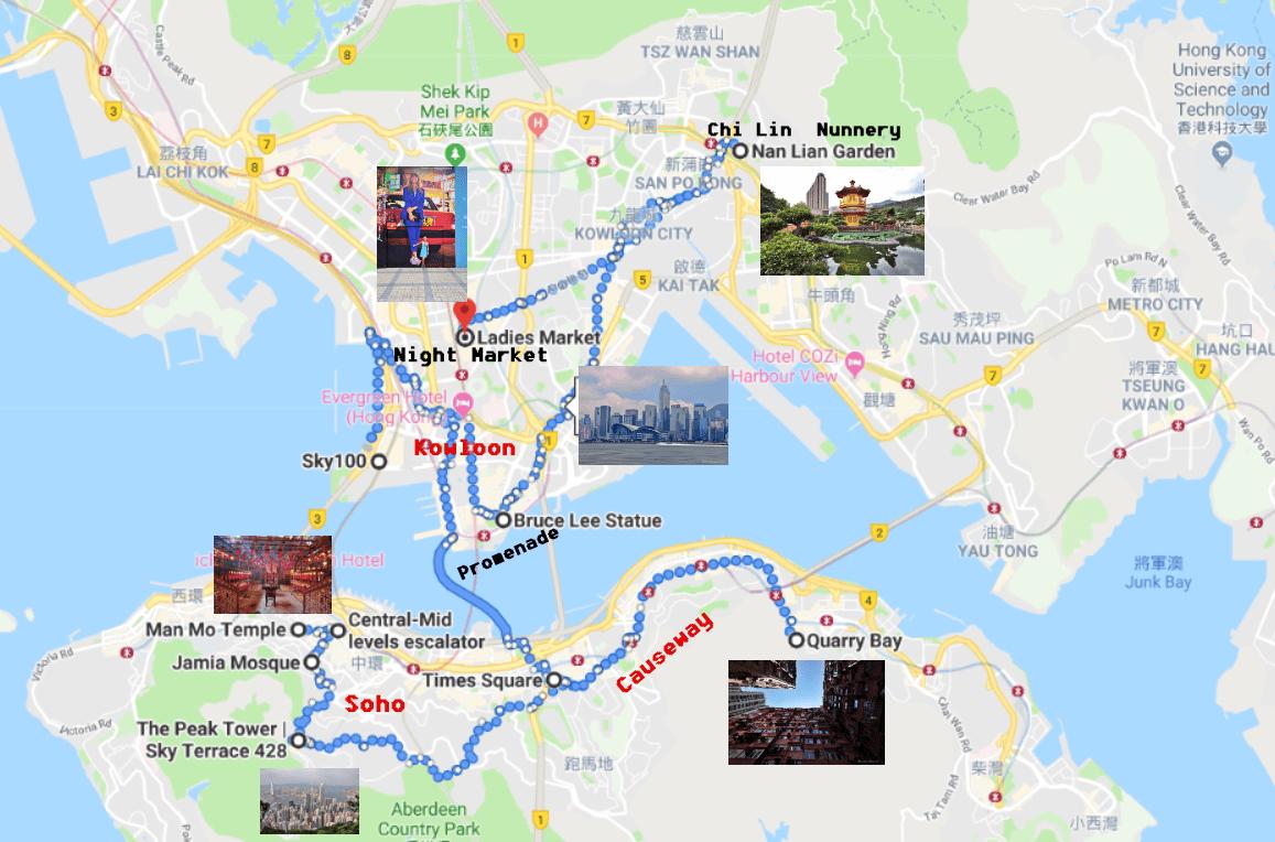 Cartina Hong Kong.Itinerario Hong Kong Mini Guida Per Conoscere La Citta