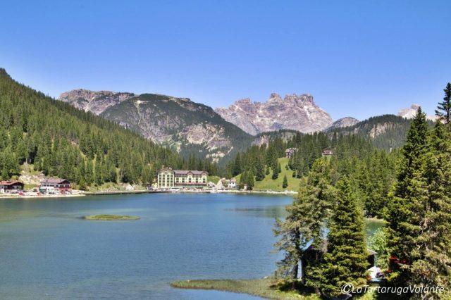 lago di misurina dalla chiesetta