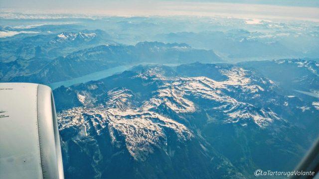 le alpi dall'aereo