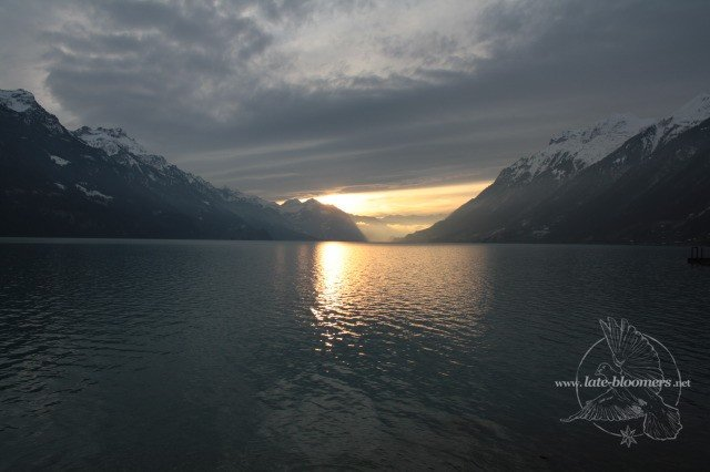 Sonnenuntergang im Berner Oberland