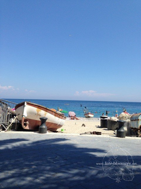 Noli am Golf von Genua, Italien
