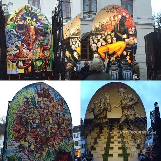 Laternenausstellung auf dem Münsterplatz in Basel