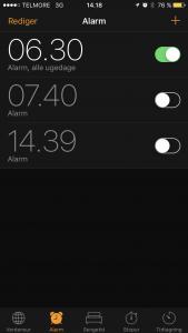 Sæt alarmen til automatisk at ringe hver dag