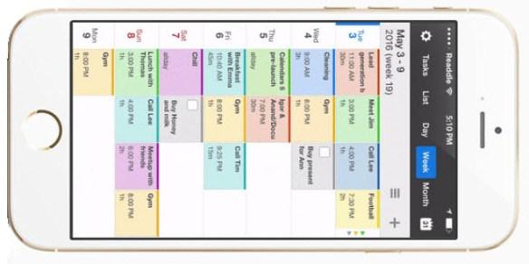 Anbefaling af kalender-app til iPhone