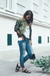 bomber jacket casual