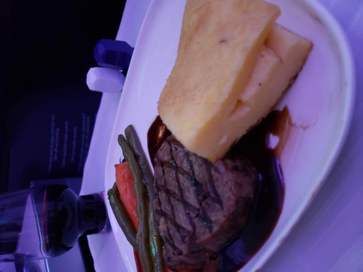 Delta One Suites Dinner Steak - Late By Lattes