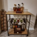 rustic wine cart