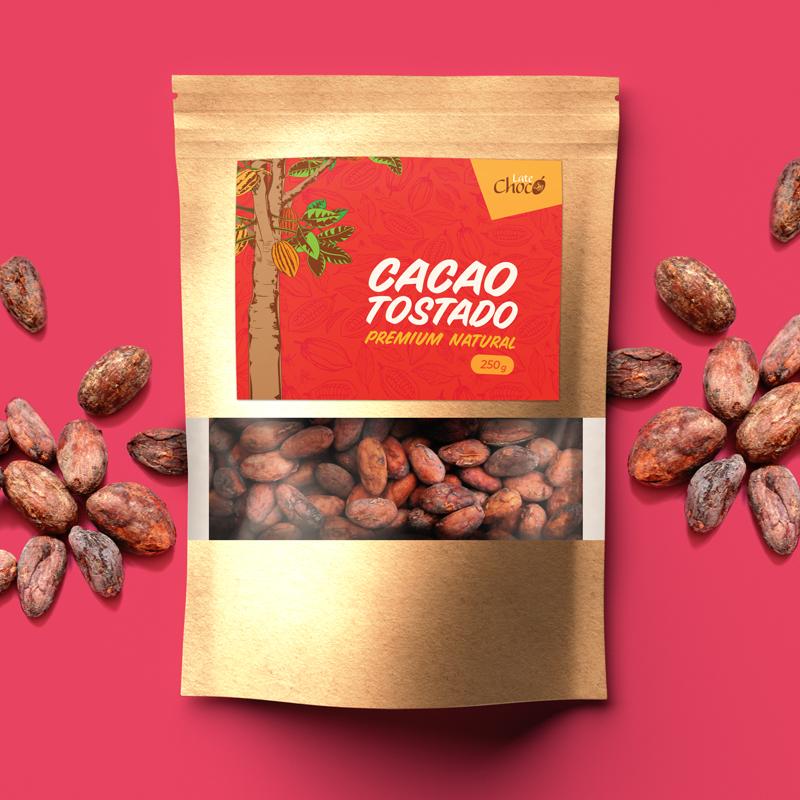 Cacao premium tostado natural