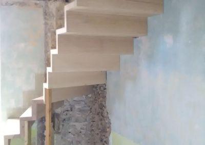 Escalier cinq essences de bois