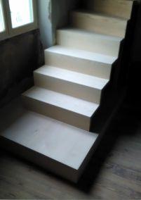 Escalier sur mesure plusieurs bois, Charpey 26