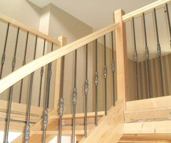 escalier bois balustre acier style rustique