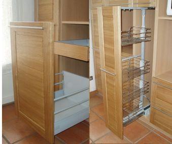 tiroir armoire coulissante cuisine sur mesure