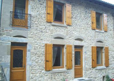 Menuiseries façade Maison en pierre
