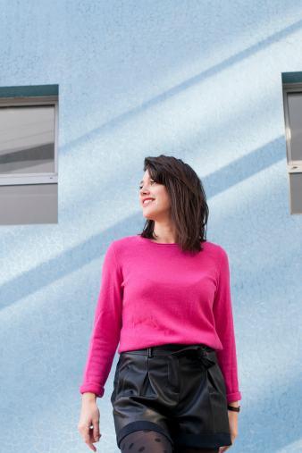 look hiver pull cachemire fushia 123 l'atelier d'al blog mode lifestyle DIY Paris