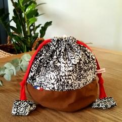 sac goûter maternelle rouge Bisbee