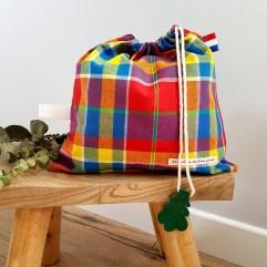 sac linge maternelle madras Madiana