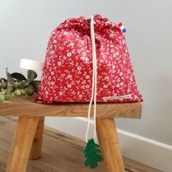 sac linge maternelle rouge