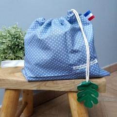 sac linge maternelle bleu