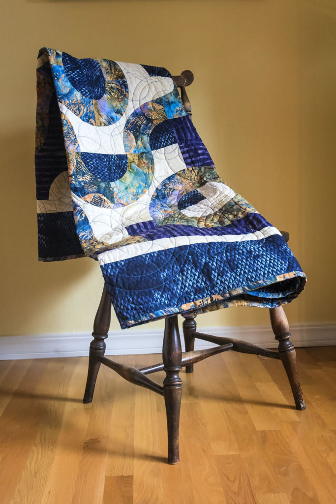 Fish-quilt-on-chair
