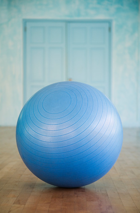 Swiss ball closeup