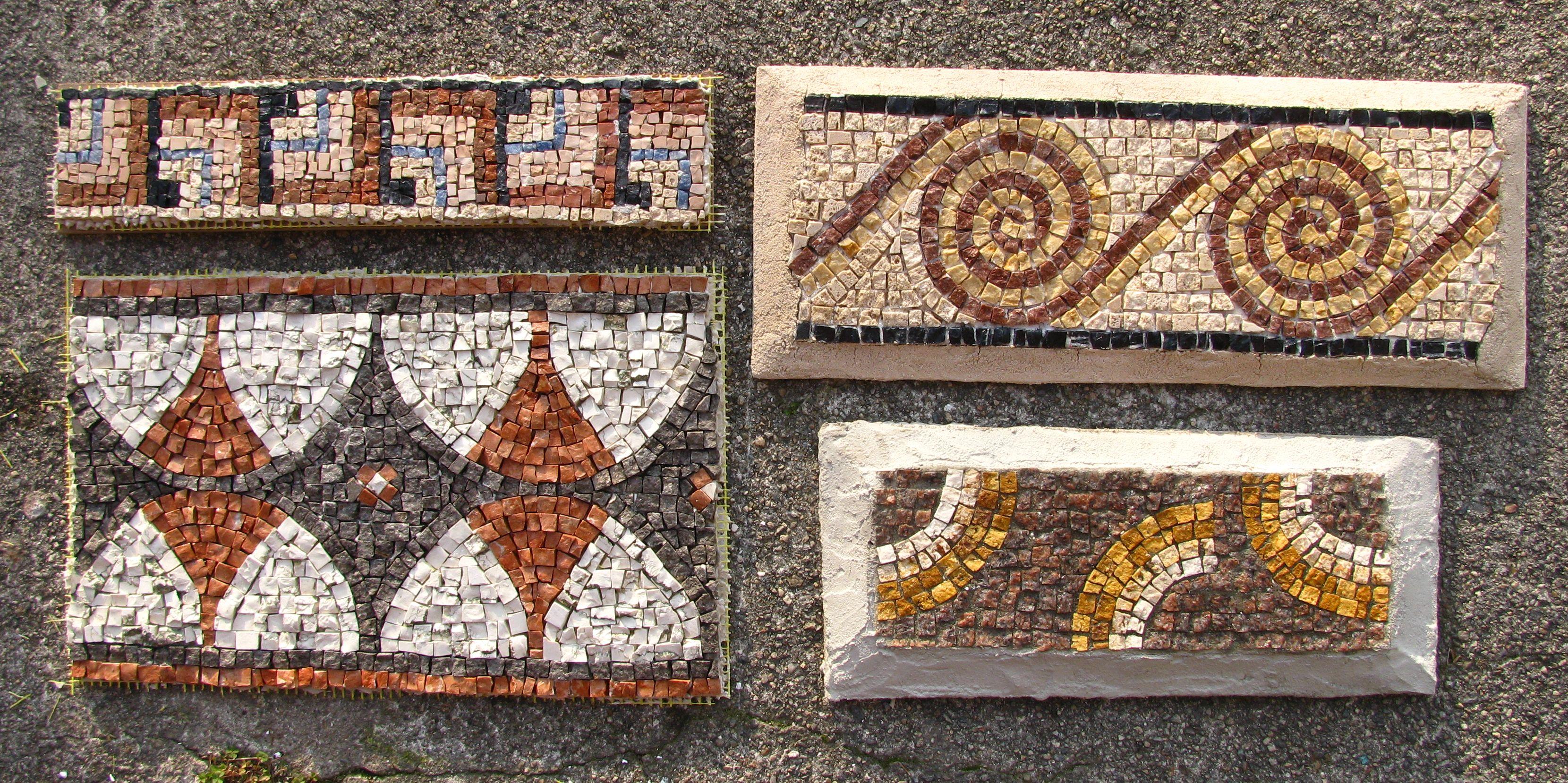 Inserti greche mosaico in pietra mosaico romano