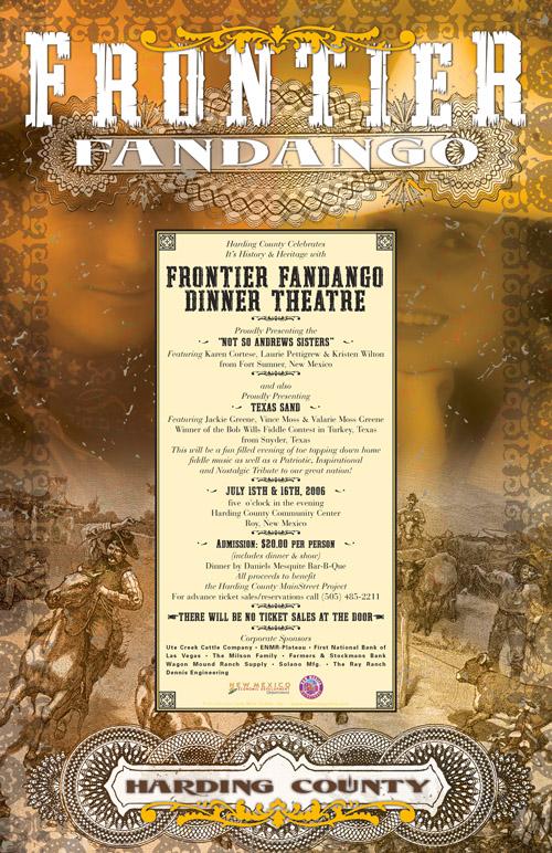Frontier Fandango poster