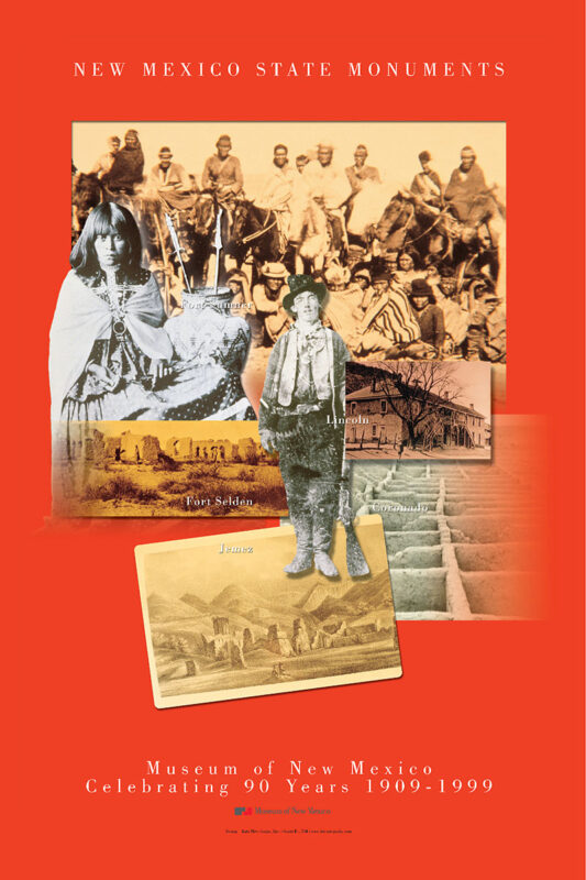 Museum of New Mexico Celebrating 90 Years 1909-1999 poster