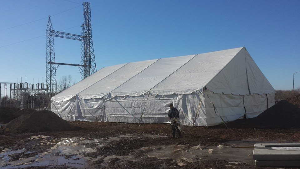 Emergancy Responce Tents for Testing