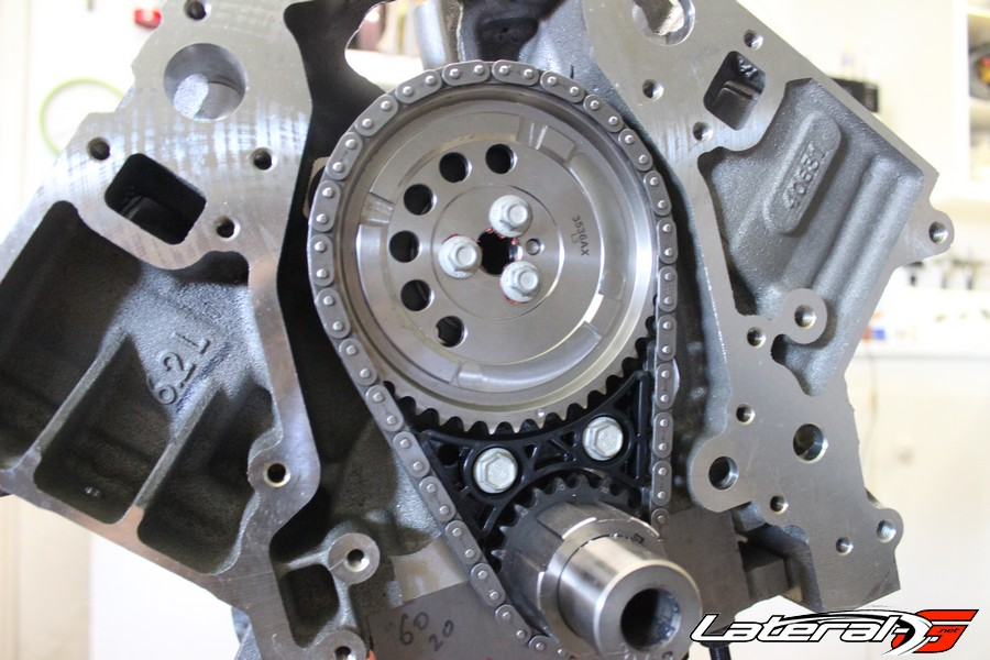 Completed Comp Cams dual timing chain set installed.