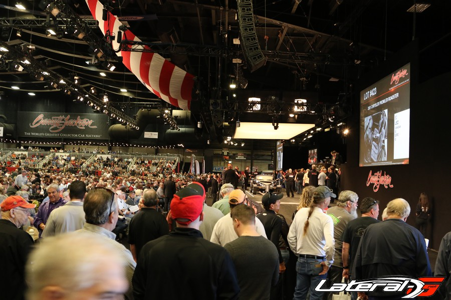 The madness of the auction block at Barrett Jackson.