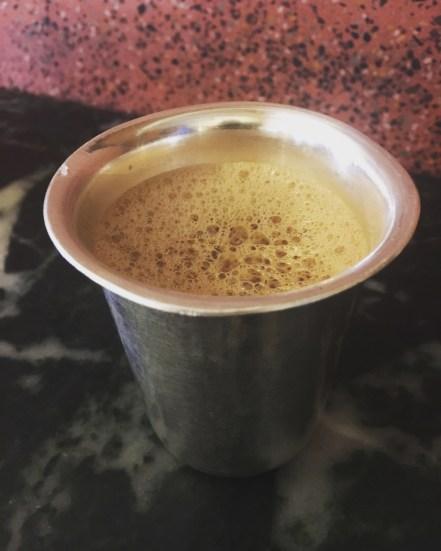 Filter coffee a la silver tumbler