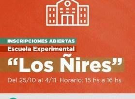 Comienzan las Inscripciones para Sala de 3 años en la Escuela Experimental los Ñires de Tolhuin