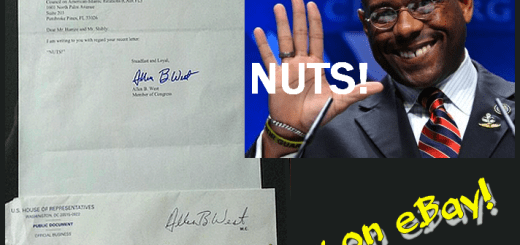 "Allen West's ""NUTS!"" letter to CAIR on eBay"