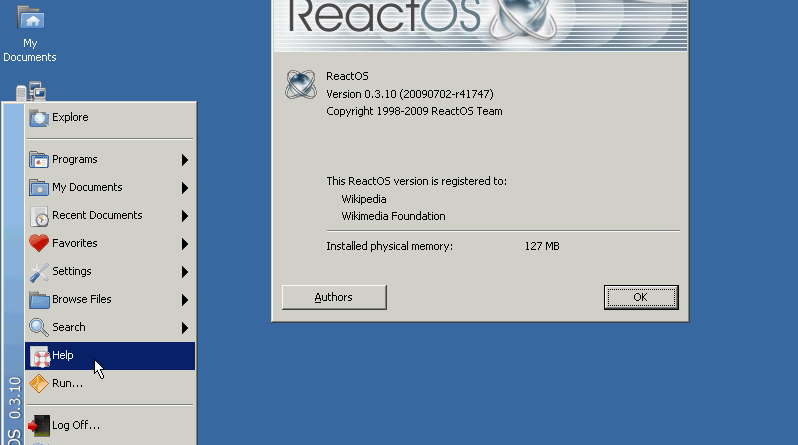 ReactOS - FREE alternatives to windows