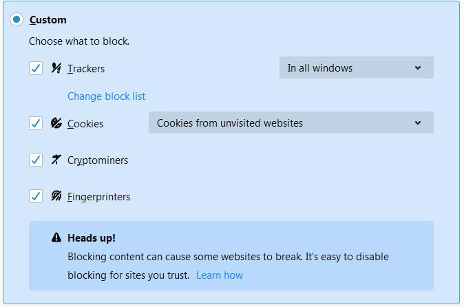 Firefox 68 settings custom