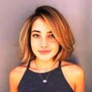 beautiful short straight hairstyles