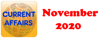 Current Affairs Question Answers (MCQ) November 2020