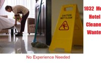HOTEL CLEANERS NEEDED
