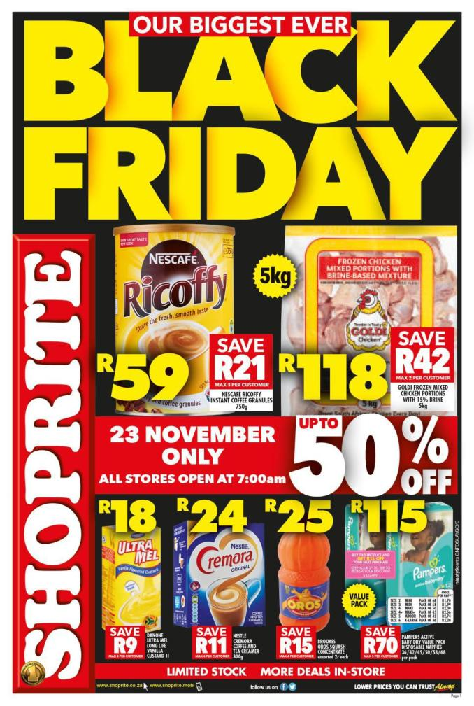 Shoprite Black Friday Specials 2019 and Prizes to be Won 1