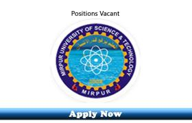 Jobs in Mirpur University of Science and Technology MUST 2019 Apply Now