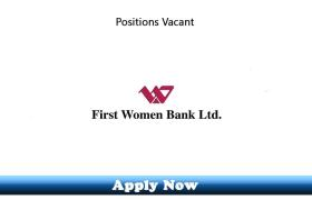 Jobs in First Women Bank Limited 2020 Apply Now