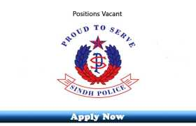 Jobs in Police Department Government of Sindh 2020 Apply Now