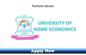 Jobs in University of Home Economics Lahore 2020