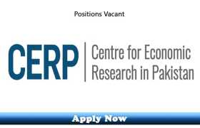 Internship and Jobs in Center For Economic Research CERP Pakistan 2020 Apply Now