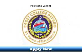 Jobs in Cadet College Petaro 2020 Apply Now