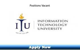 Daily Wages Jobs in Information Technology University 2020 Apply Now