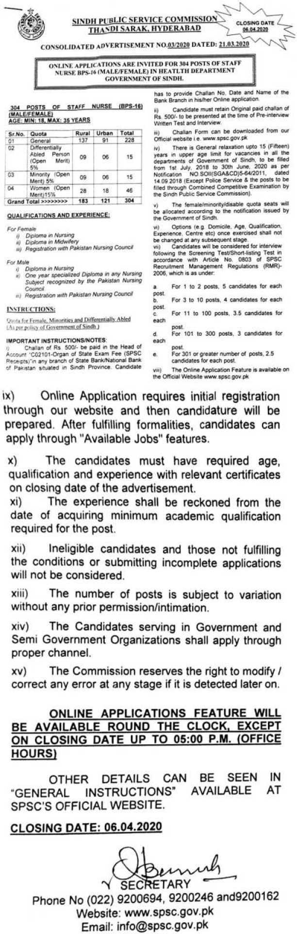 Jobs in Health Department Government of Sindh 2020 Apply Now